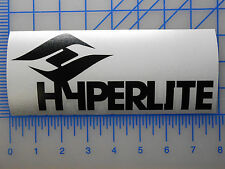 "Hyperlite Logo Decal Sticker 7.5"" 11"" Wakeboard Wakeskate Bindings Vest Hat Line"