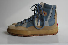 WOLKY Superschöner Blau Textil High-Top Sneakers, Gr. 38