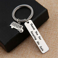 Letters Print Bus Driver Keychain Handbag Key Chain Ring Appreciation Gift