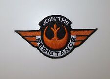 Star Wars Join the Resistance  Embroidered Iron On / Sew On Applique Patch