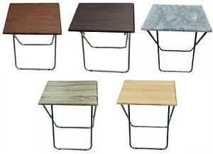 Folding Wooden TV Table Side Fold Worktable Laptop Home Tea Dinner Desk LARGE