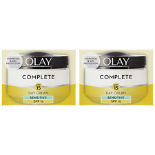 2 Olay 3in1 Day Cream Sensitive Moisturiser Essentials Complete Care SPF15 50ml
