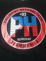 Team Manila Mens T Shirt Size L Black Short Sleeve Crewneck Cotton