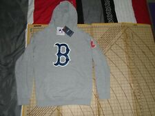 ADULT MEDIUM FANATICS MLB BOSTON RED SOX PULL OVER HOODED SWEATSHIRT - NWT