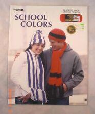School Colors - Leisure Arts 3526 - 12 Knit & Crochet Patterns