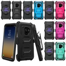 For Samsung Galaxy S9 Plus [Tri-Guard] Armor Case + Belt Clip Holster