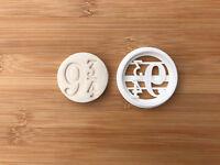 Harry Potter-inspired Cookie Cutter Platform 9 3/4 Cupcake Fondant Gingerbread