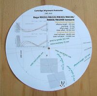 Rega RB202/RB220/RB303/RB330/RB808/RB2000 Tonearm Cartridge Alignment Protractor