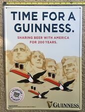 """""""Time for a Guinness"""" Presidents Toucan  Metal Beer Tin Tacker Bar Sign"""