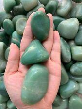 Extra Large Green Aventurine Tumbled Stone (1.5-2.75 Inches), Wholesale Bulk Lot