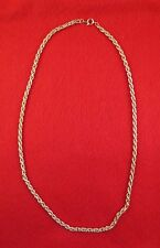 "LOT OF 25 PCS 14KT YELLOW GOLD EP 17"" 3.5MM FLEXIBLE ROPE NECKLACE CHAIN"