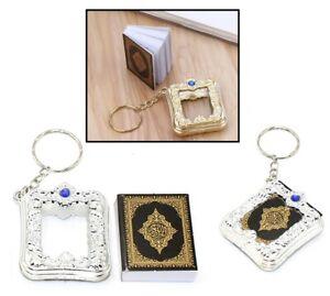 Mini Coran Porte-Clés Livre Cadeau Islam Arabe Polices