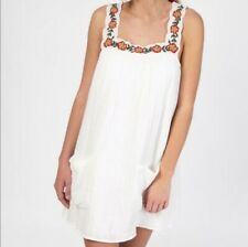 NATURAL LIFE - White Embroidered Dress Size SMALL Fits Loosely NEW IN PACKAGE