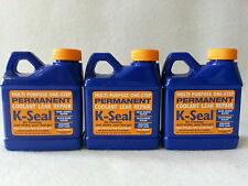 3 BOTTLES K-SEAL Permanent Coolant Leak Repair 8 oz Head Gasket Radiator KSEAL
