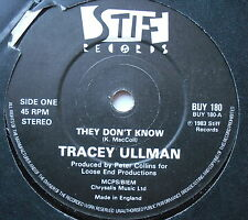 """TRACEY ULLMAN - They Don't Know - Excellent Condition 7"""" Single Stiff BUY 180"""
