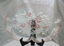 Canape Plate Platter Mikasa Crystal Rosella Pattern