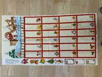 Nutex Fabric - Advent Calendar Panel - Cream- 100% Cotton