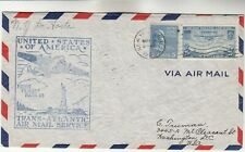 Trans-Atlantic Airmail First Flight Fam 18 Airmail Cover