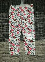 Old Navy Baby Girl 18-24M Cream with Floral Print Full Length Leggings New