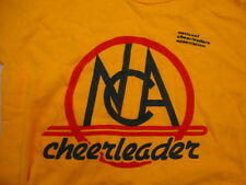 Vintage National Cheerleaders Association Athletic Exercise Yellow T Shirt M