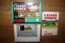 Jeu Cannon Fodder Super Nintendo SNES en boite complet