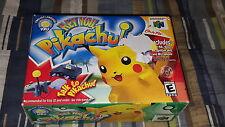 Hey You, Pikachu (Nintendo 64, 2000) N64 Brand New Factory Sealed Pokemon RARE