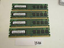 Samsung M378T2863QZS-CF7 4x1Gb=4Gb PC2-6400 800Mhz DDR2 Desktop Memory RAM (1585