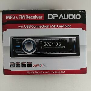 DP AUDIO DR106 FM & MP3 Stereo Receiver with USB Port and SD Card Slot - 20Wx4
