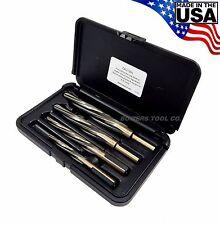 "Norseman Hi-Tungsten Car Reamer Bit Set 4pc 3/8, 1/2, 5/8, 3/4"" CR-4SP USA MADE"