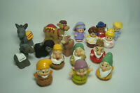 FISHER PRICE Little People Lot of 16 ~ Mix Figures & Animals ~ 6 of the 7 Dwarfs
