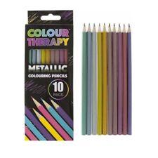 Colour Therapy 10pc qualità D'ARTE DISEGNO COLORARE anti stress MATITE metallico