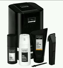 LYNX Collection Gift Set Mens URBAN Trio Grooming Set with Hair Trimmer Tin Box