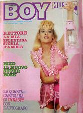 BOY MUSIC 22 1983 Rettore Vasco Rossi Pamela Sue Martin David Bowie Miguel Bosé