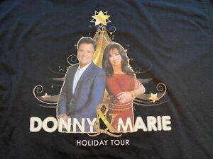 Donny & Marie Osmond Holiday Tour Shirt Size XL