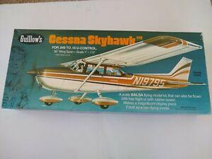 Cessna Skyhawk Guillows #802 Balsa Wood Model Airplane Kit-PARTS ONLY