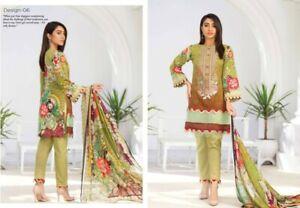 Aalaya Embroidered 3 Piece Lawn Jamawar Suit