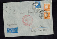 A-1308**GERMANY 1938  ZEPPELIN-/HINDENBERG JUDAICA COVER*BERLIN TO BUENOS AIRES