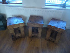 Stool Table, Lamp Tables. Handmade And Made Of Reclaimed Hardwood