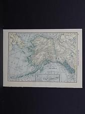 Maps, Small, c. 1910, Double Sided U.S.A. #14 Alaska, Washington