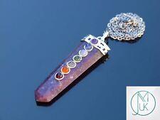 Rectificadores 7 Chakra plana 50cm Collar Colgante de piedras preciosas naturales Piedra de Curación