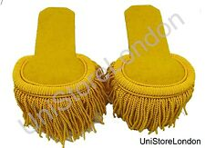 Epaulette Marching Band Shoulder Boards with Fringe in Silk Yellow R 1420