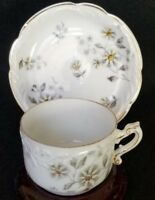 ANTIQUE R & C ROSENTHAL DEMITASSE CUP AND SAUCER DAISIES