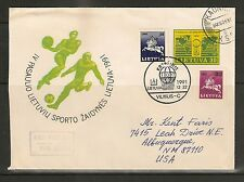 Lithuania 1991 30+10k Postal Stationery - FDC Fourth World Lithuanian Games