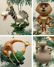 "MADAGASCAR 4 Piece Christmas Ornament Set Gloria, Marty, Alex, Melman 3"" to 4"""