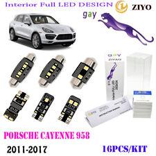 16Bulb LED Interior Light Kit Cool White 6000K Fit 2011-2017 Porsche Cayenne 958