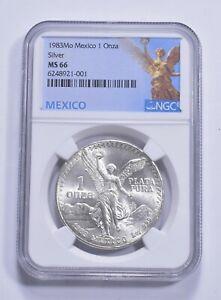 1983 MS66 Mexico Mexican Libertad Graded NGC 1 oz Silver .999 Fine *311