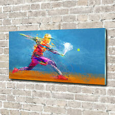 Glas-Bild Wandbilder Druck auf Glas 140x70 Deko Sport Tennisspieler