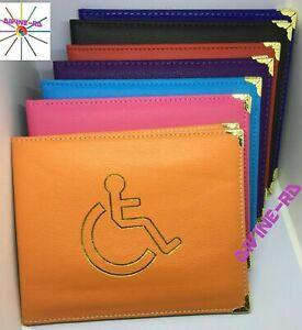 Disabled Blue Badge Holder Protector Wallet PU Leather Safe Parking Permit