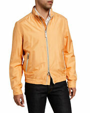 $4995 STEFANO RICCI Orange Lightweight 100% Silk Coat Jacket Size 58 Euro 3XL