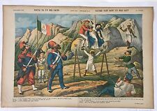 "PERROQUET JOURNAL ITALIEN (ET FRANCAIS) PAPAGALLO ""SALTA! FA UN BEL SALTO"" 1885"